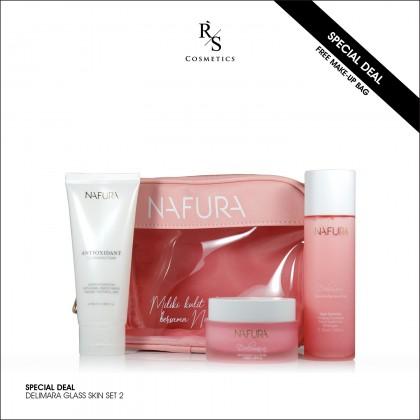 CB 01 - DELIMARA GLASS SKIN SET 2 (Free Make-Up Bag)